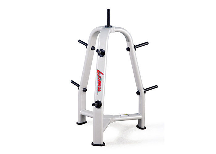 Special Gym Rack And Bench , Commercial Training Equipment Weight Plate Tree